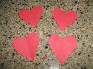 Paper hearts.