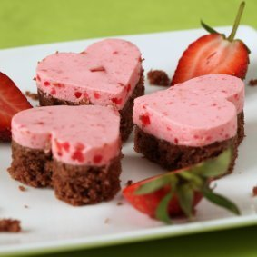 Valentine's ice cream sandwiches.