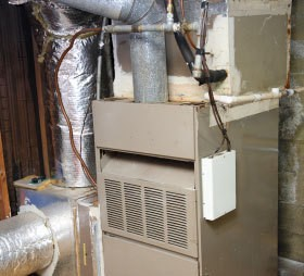 A furnace for a home.