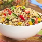 Vegetarian Quinoa Salad With Peppers
