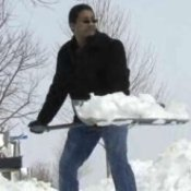 How to Shovel Snow, Man Shoveling Snow