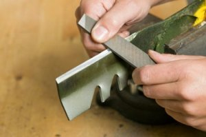 Sharpening a Lawnmower Blade