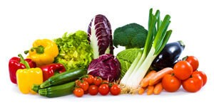Different types of vegetables.