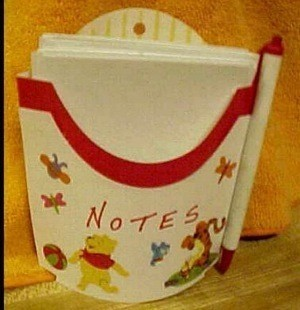 McDonald's Fries container note holder
