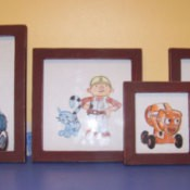 Bob the Builder watercolors for a boy's bedroom.