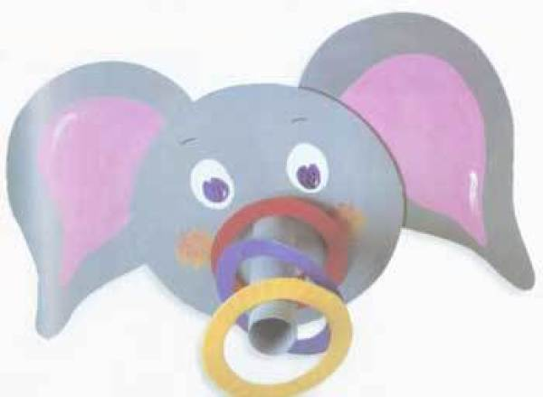 A Elephant ring toss game for kids.