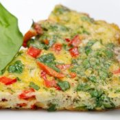 Spinach and Pepper Breakfast Egg Fritatta