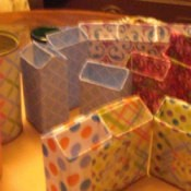 Recycled boxes for uses in crafting.