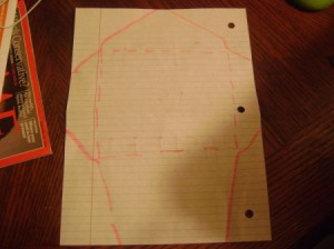 Recycled Paper Envelope Outline