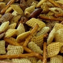 The classic Chex Party Mix with nuts and pretzels.