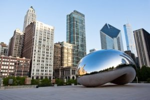 The Cloud Gate Bean in Chicago.