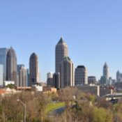 Atlanta sky line during the day.