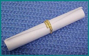 Wedding scroll favor.