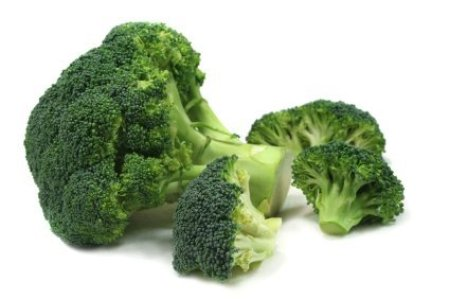 Two heads of broccoli.