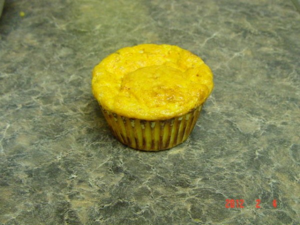 Flourless Egg Muffin sitting on countertop