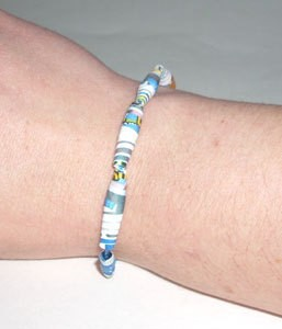 Paper Beads Bracelet Finished