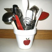 Apple Kitchen Utensil Holder