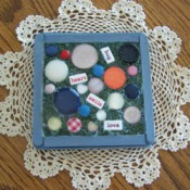 Finished button trivet.