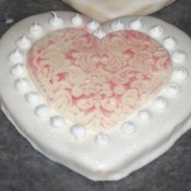 Heart shaped wedding cookies.