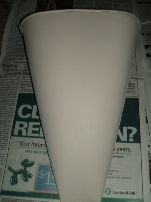 Bucket after priming.