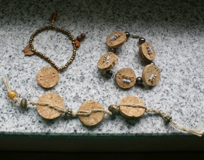 Recycled Wine Cork Bracelets