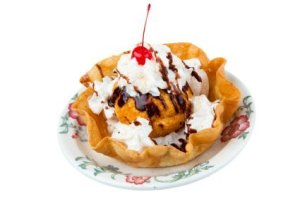 Fried ice cream.