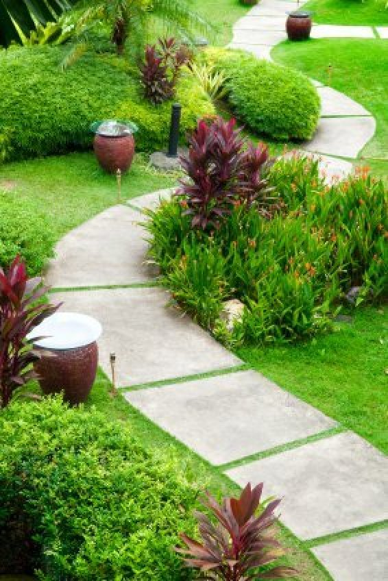 Backyard Path Ideas garden design with ideas for creating the perfect path landscaping ideas and with backyard swimming pool Garden Path Concrete Tiles