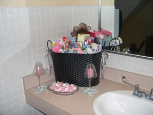 Wedding toiletry basket.