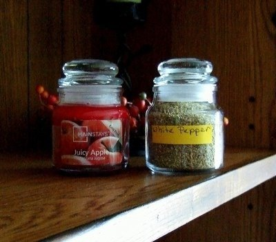 Reusing Candle Jars for Spices