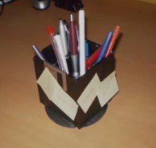 floppy disk pen holder