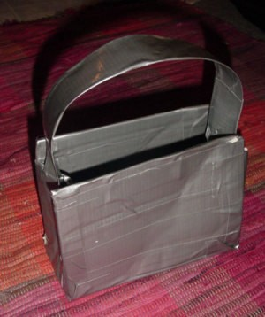 Easy Duct Tape Purse - finished