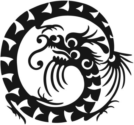 Dragon graphic.