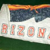 Pillow made from an old t-shirt.