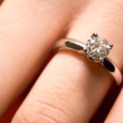 Buying an Engagement Ring, A diamond engagement ring.