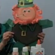 St. Patrick's Day Leprechaun Wall Hanging