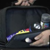 Bag with flashlight and other accessories.