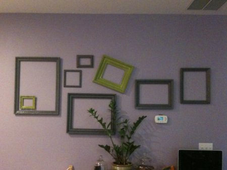 Frames on a wall.