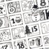 Printable advent calendar.