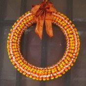 Candy corn fall wreath.