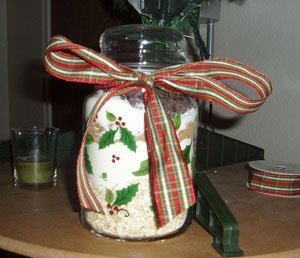Cookie in a jar mix.