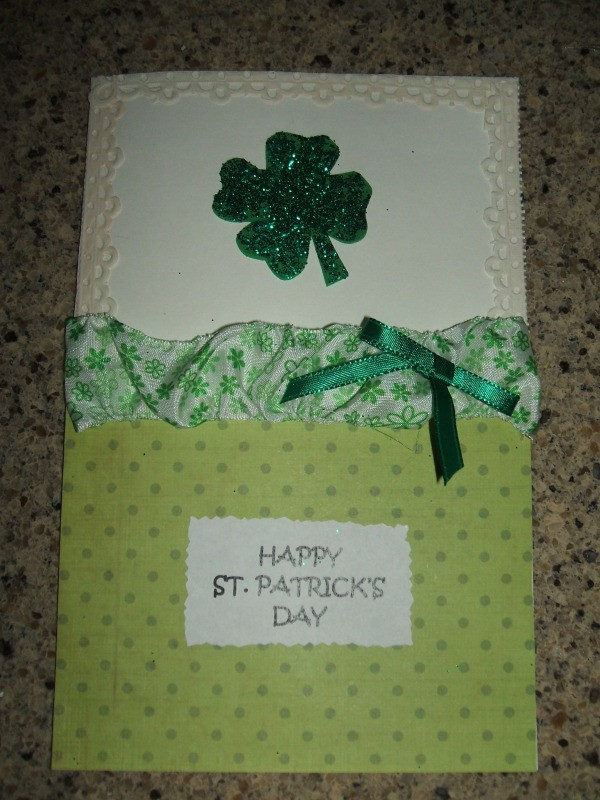 Finished St. Patrick's Day card.