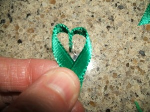 Ribbon Shamrock Pin Step 4