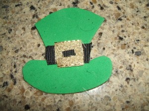 Leprechaun Hat Napkin Rings - Completed hat.