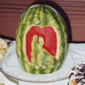 Carved Watermelon Centerpiece