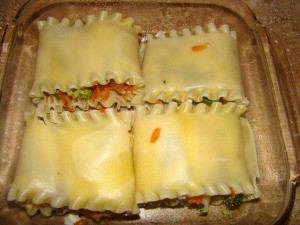 Lasagna Rolls without Sauce