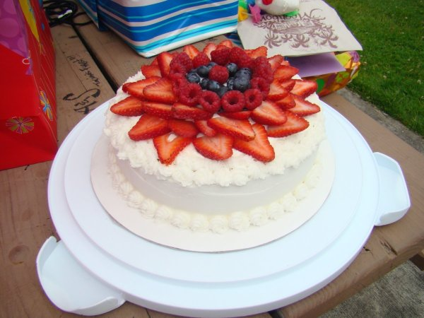Fruit Topped Cake