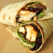 Grilled chicken wrap.