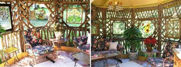 gazebo made from found wood 3