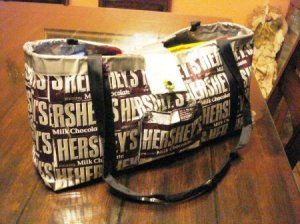hersey bar duct tape bag