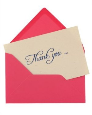 thank you note ideas